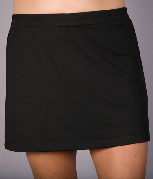 Black A Line Tennis Skirt Only