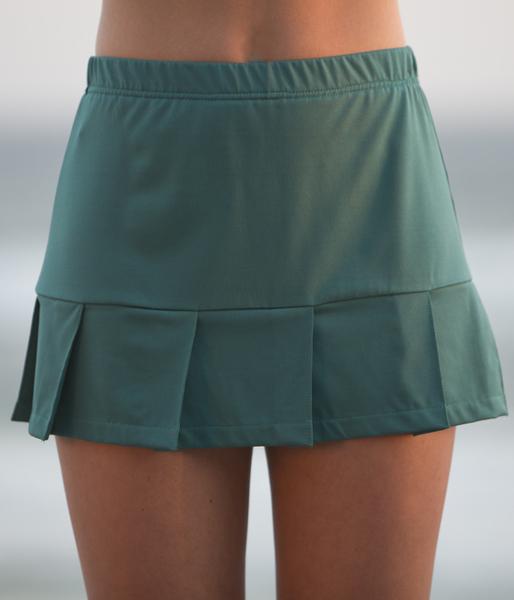 Deep Emerald Pleated Tennis Skirt - No Shorts