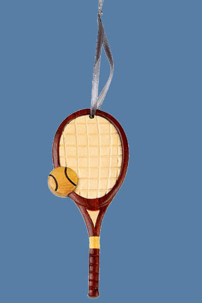 Handcrafted Vintage Tennis Racket Ornament   Tennis Christmas Ornaments