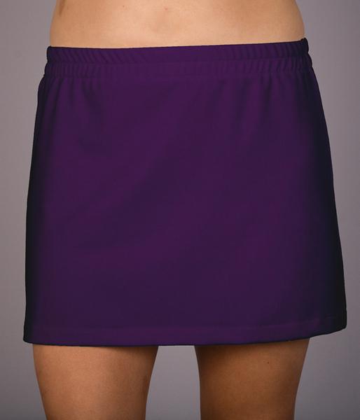 Deep Purple, Red or Royal A Line Tennis Skorts