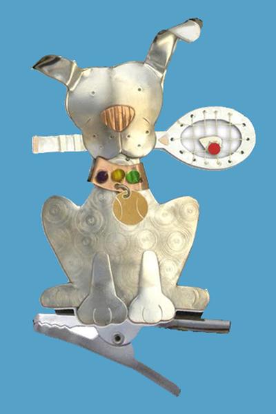 Racket Dog Tennis Clip- I RUV Tennis! | Tennis Christmas Ornaments