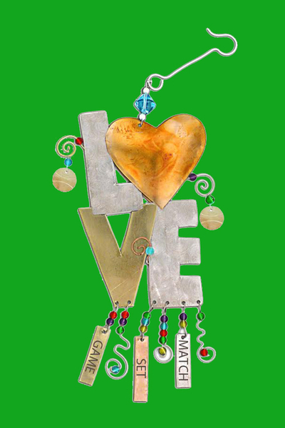 Game Set Match Love Tennis Ornament - Just Arrived | Tennis Christmas Ornaments