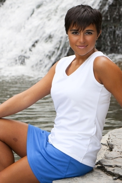 V Neck Tennis Top for petite to tall women
