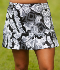 Image Pleated Tennis Skirt with Shorts Featured In Abstract Gray Fabric  Alert!