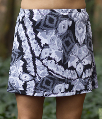Image A Line Tennis Skirt With Shorts/Skort Featured in Abstract Gray - Fabric Alert!