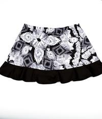 Image Custom Abstract and Black Ruffled Tennis Skirt No Shorts - Franklin, MA