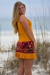 Image Size Medium - Princess Tennis Top Featured in Amber and Wildfire