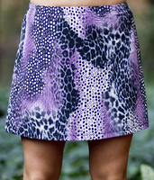 Image A Line Tennis Skirt With Shorts/Skort Featured in Animal Abstract New Low Price!