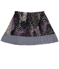 Image Size 3X - Wild Card Skirt in Pearl and Animal Abstract With Shorts