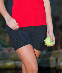 Image A Line Tennis Skirt With Shorts/Skort Featured in Black