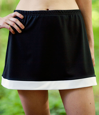 Image Border Tennis Skirt With Shorts/Tennis Skorts
