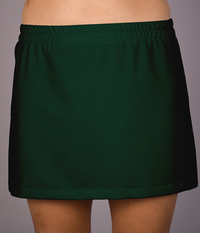 Image A Line Tennis Skirt With Skorts In Hunter Green, Burgundy and Brown - New Price!