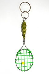 Image Lime Green Tennis Racket Key Chain