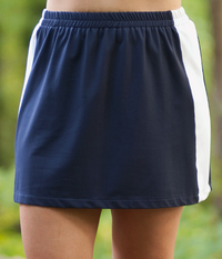 Image Color Block Tennis Skirt with Shorts/Tennis Skorts
