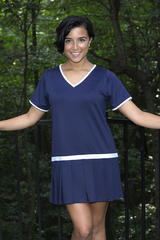Image Vintage Pleated Tennis Dress