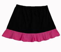 Image Custom Neon Pink and Black Ruffled Tennis Skirt No Shorts - Ohio
