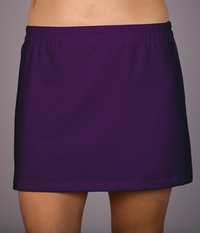 Image A Line Tennis Skirt With Shorts Featured in Deep Purple, Red or Royal
