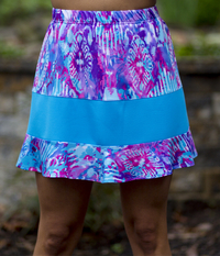 Image Rally Ruffle Tennis Skirt In Fun! and Sporty Turquoise - No Shorts