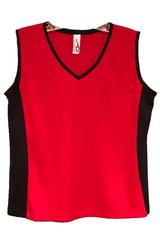Image Custom Sporty Red and Black Edge Tennis Top - Sassy Shot Team