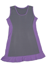 Image Custom Pearl and Dark Lavender Ruffled Tennis Dress Concord, CA