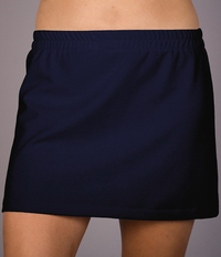 Image A Line Tennis Skirt Featured in Navy or Brick Red Dry Line Wick-No Shorts
