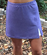 Image Sassy Slit Skirt Featured in Plum Fusion and Attached White Shorts