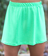 Image Panel Tennis Skirt With Shorts Featured in Limelight and White Attached Shorts