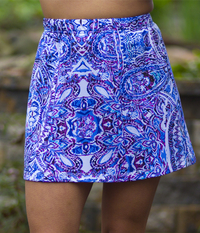 Image Panel Tennis Skirt With Shorts Featured in Mahalo - ON SALE, NEW PRINT TOO!