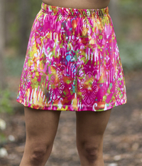 Image A Line Tennis Skirt With Shorts Featured in Pink Color Run - NEW PRINT, ON SALE!
