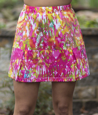 Image Court Classic Tennis Skirt in Pink Color Run - No Shorts - Brand New Print!