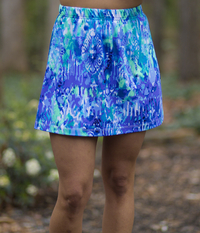 Image A Line Tennis Skirt With Shorts Featured in Watercolor - NEW PRINT, 2018!