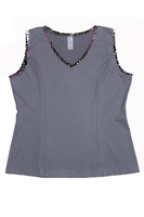 Image Size Large - Princess Tennis Top Featured in Pearl and Animal Abstract copy