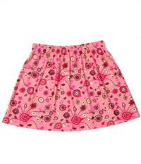 Image Size Medium - A Line Skirt Featured in Coral and Pink Paisley - No Shorts