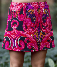 Image A Line Tennis Skirt With Shorts/Skort Featured in Ocean Wave Or Red Pink  Sale