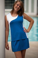 Image Advantage Tennis Top Featured in Royal and White