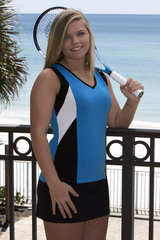 Image Challenger Tennis Top featured in Sporty Turquoise, Black and White