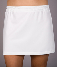 Image A Line Tennis Skirt Featured In Performance White - No Shorts