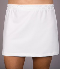 Image A Line Tennis Skirt With Shorts/Skort Featured in Performance White