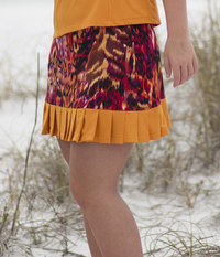 Image Size XL - Wild Card Skirt featured in Wildfire and Amber Shorts